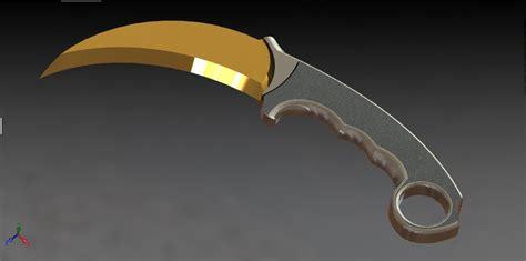 Jual Pisau Kerambit Cs Go cs go karambit knife solidworks 3d cad model grabcad