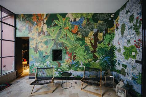 hidden garden interior mural  behance