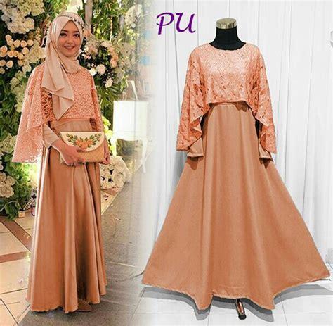 Baju Muslim Set 2in1 Glitter Tosca baju gamis pesta brokat model busana muslim remaja