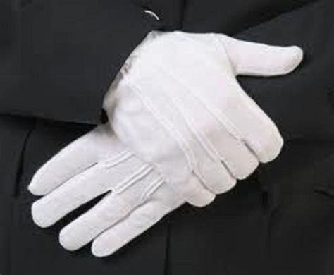 color guard gloves 1 pair white formal gloves tuxedo honor color guard parade