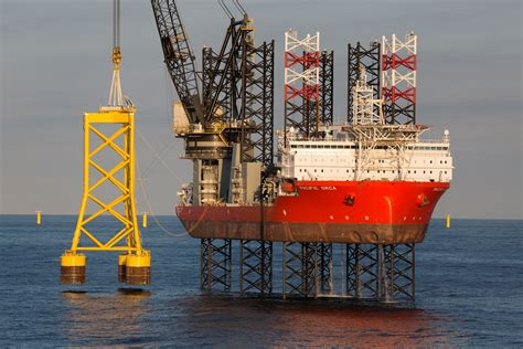 offshore jacket design exle bang up job done on pioneering offshore wind project