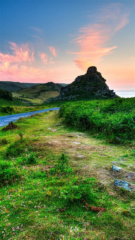 wallpaper exmoor national park landscape great britain