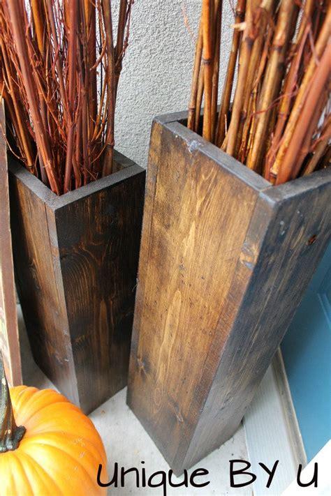 wooden fall decor diy wooden vases fall decor diy projects pinterest