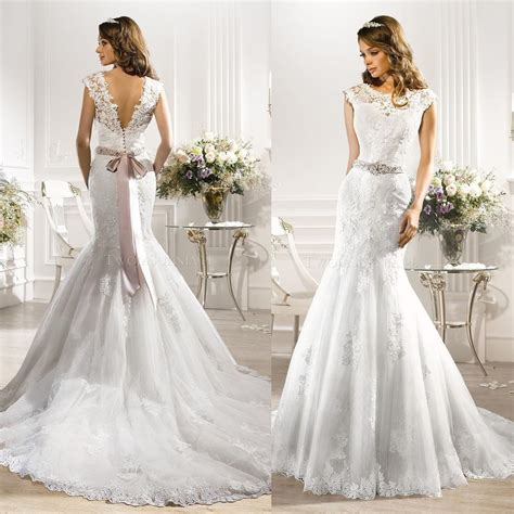 Non Designer Wedding Dresses by 2016 Rhinestone Couture Designer Wedding Dresses Mermaid