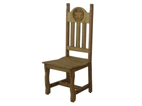 rustic dining chair with carved mexican