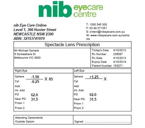 glasses prescription to contacts conversion louisiana