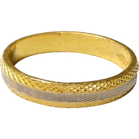 24k gold ring yellow gold two toned white