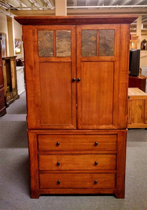 oak tv armoire oak tv armoire slate top doors delmarva furniture