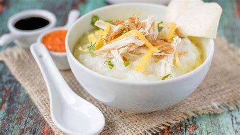 resep bubur ayam kuning  sarapan masak  hari