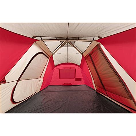 instant awning ozark trail 12 person 3 room hybrid instant tent with awning