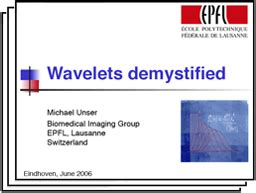 tutorial wavelet transform biomedical imaging group gt tutorials reviews and recent talks