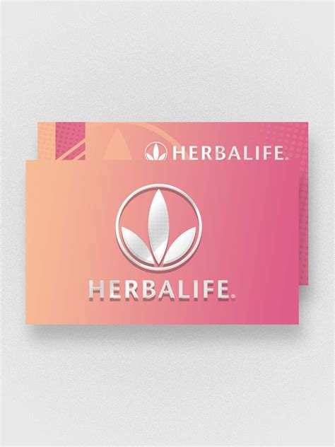 herbalife business card templates herbalife pink business card