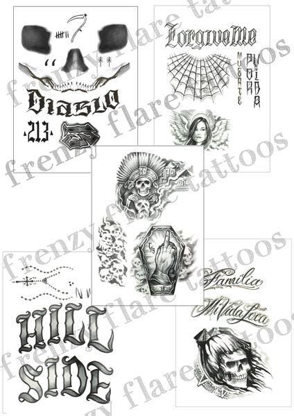 el diablo tattoo el diablo temporary tattoos squad complete set of