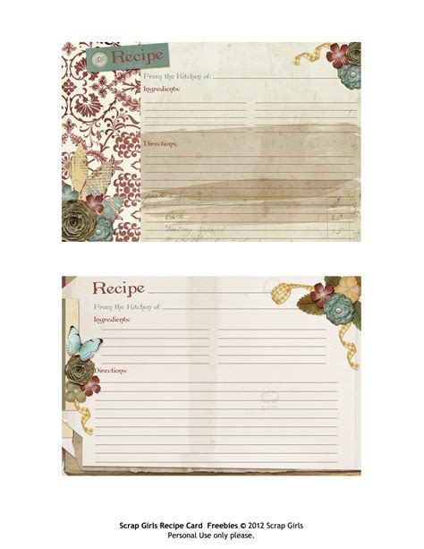 Computer Printable Recipe Cards | free printable recipe cards perfect for thanksgiving