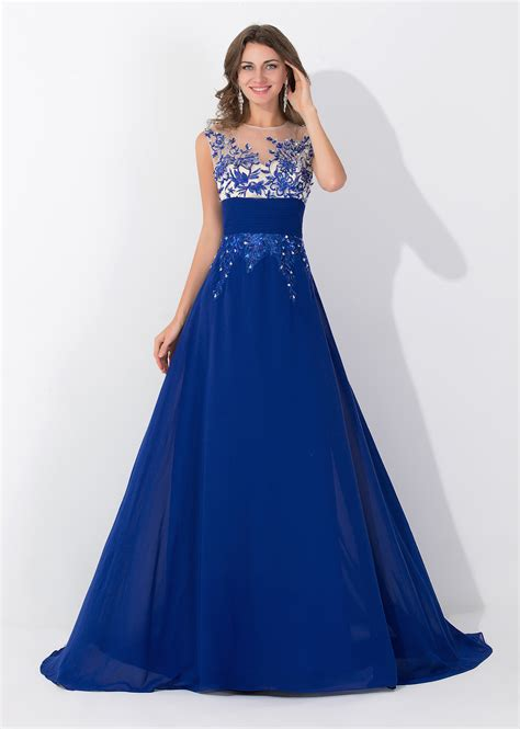 royal blue dresses royal blue applique elegant 2017 evening dresses sequined