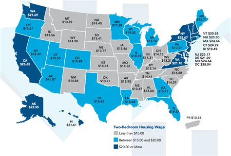 cheapest state here s the hourly wage you d need to afford a 2 bedroom