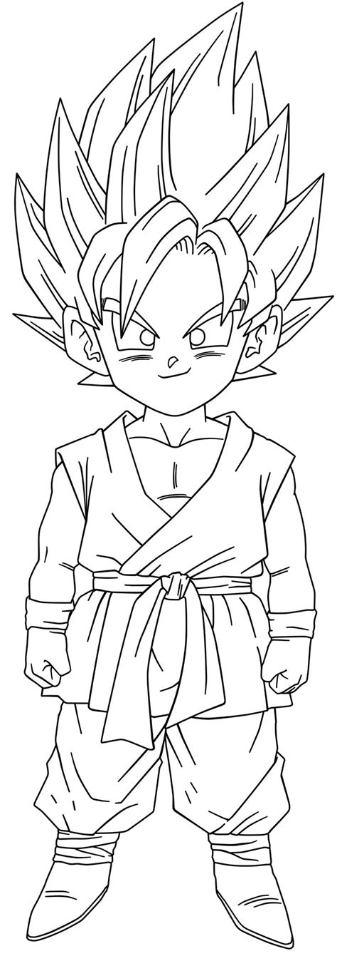 Coloring Page Goku by Goku Ssj2 Free Coloring Pages