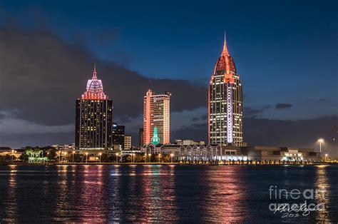 mobile alabama skyline photograph by phil floyd