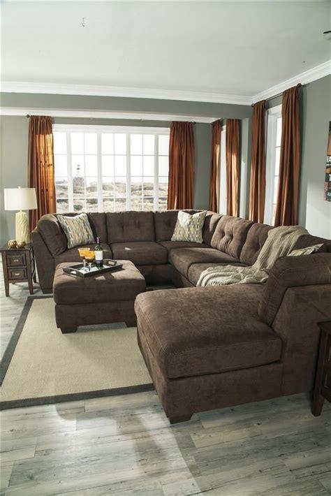 oversized sectional delta city brown microfiber oversized plush sleeper sectional sofa set