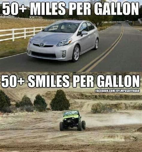 Jeep Per Gallon Jeeps Are Measured In Smiles Per Gallon Jeep