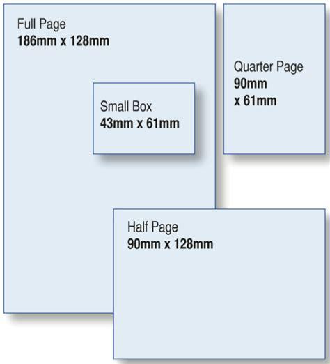 magazine layout size magazine milton keynes advertising details