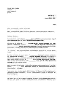 Lettre De Contestation Mobile Lettre De Contestation D Une Facture Nrj Mobile Pour D 233 Faut D Alerte De Consommation