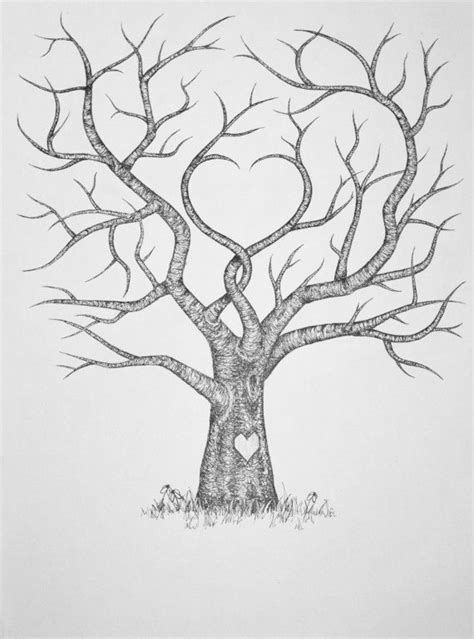 Wedding Family Tree Template original wedding fingerprint guest tree 18 x