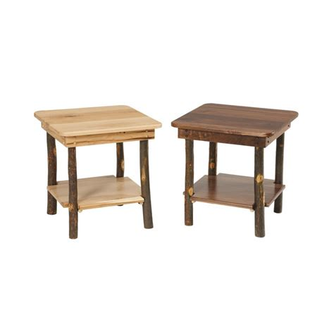 crafted tables rustic end table amish crafted furniture