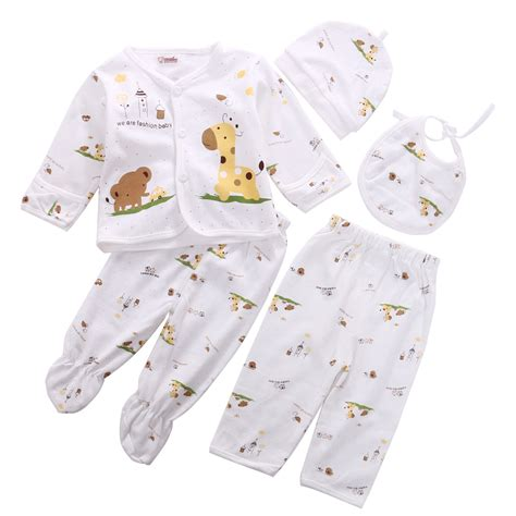 Baby 3in1 2shirt 1pant 0 3m newborn baby unisex clothes animal print shirt and 2pcs boys cotton