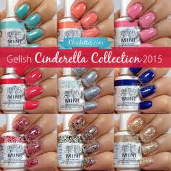 gelish cinderella collection swatches amp color comparisons chickettes soak gel polish