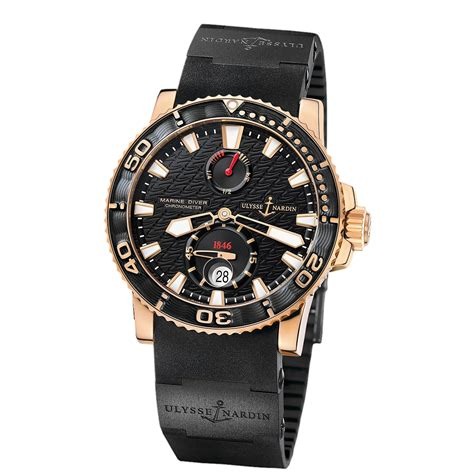 Ulysse Nardin Marine Diver Silver Black Leather For Automatic ulysse nardin marine diver 266 33 3c 922 gold world s best