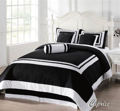 Black And White Size Comforter Sets by 7 Pieces Caprice Black And White Hotel Comforter Bed In A