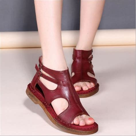 Handmade Summer Shoes For Womenflat - couture wear handmade genuine soft leather casual