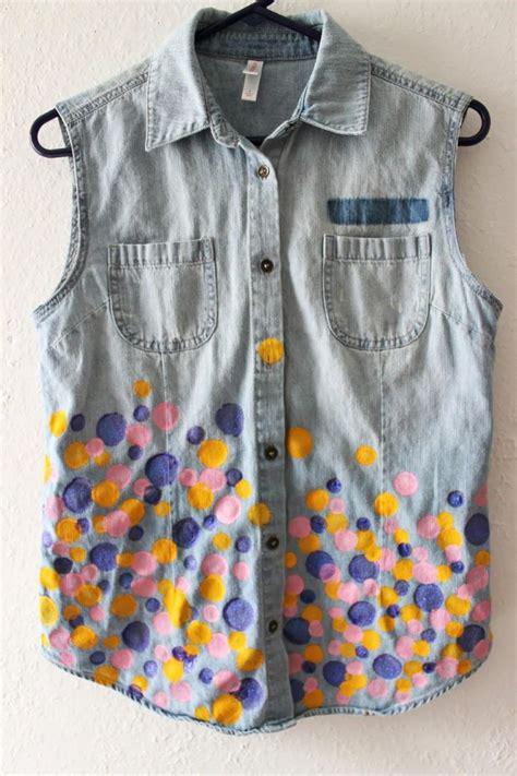diy clothes diy tutorial diy printed pattern diy polka dot denim vest