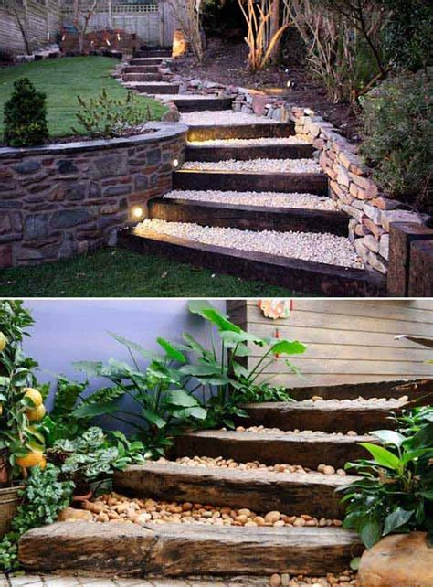 backyard steps the best 23 diy ideas to make garden stairs and steps