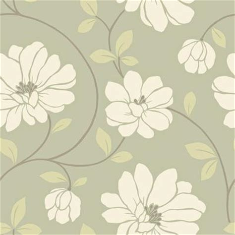 modern floral wallpaper the wallpaper company 20 5 in w sage large scale modern