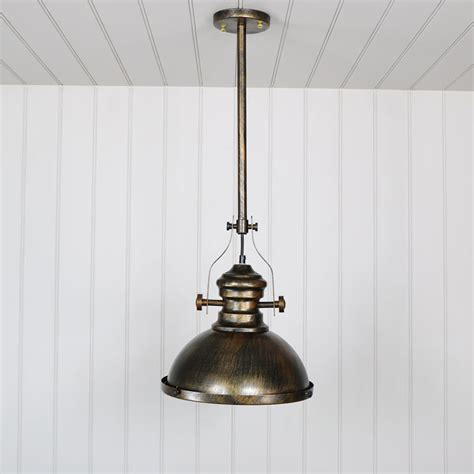 Fitting A Ceiling Light Industrial Gold Ceiling Pendant Light Fitting Melody Maison 174