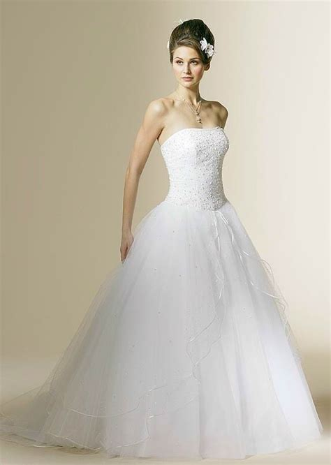 gorgeous wedding dress gorgeous strapless tulle wedding dress
