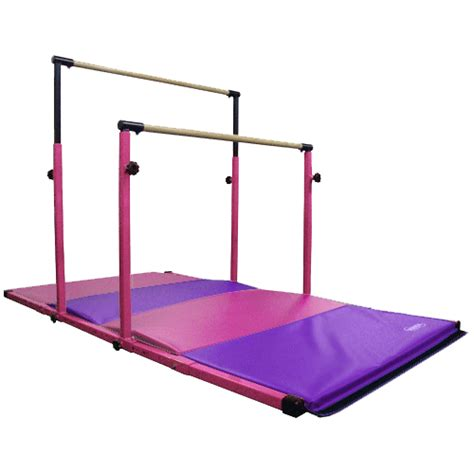pink gymnastics adjustable horizontal bars parallel bars