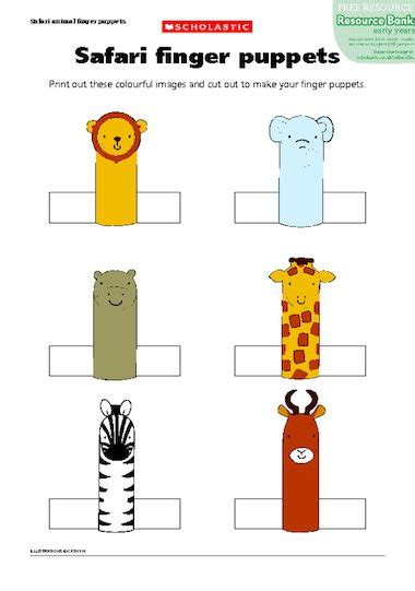 finger puppet template search results for animal finger puppets template