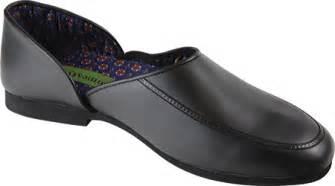 Mens Bedroom Slippers Leather men s wizfort 01slmn black