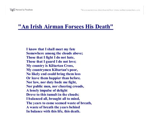 wb yeats sle essay yeats an airman foresees his essay
