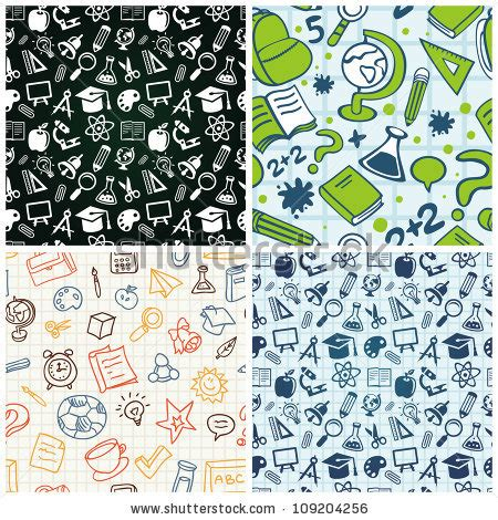 pattern education abstract vector seamless pattern education icons abstract stock