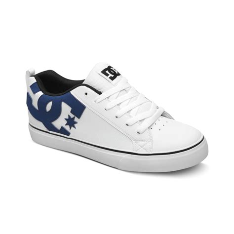 white dc sneakers dc shoes court vulc sneakers in white for white black