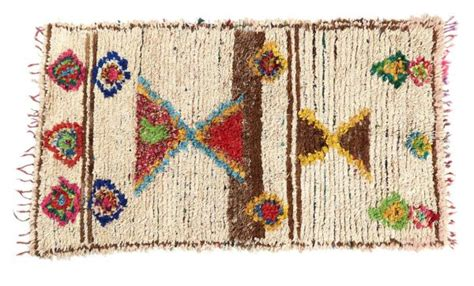 Handmade Products For Sale - ochre yellow cobalt blue vintage azilal rug emily s