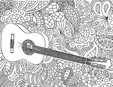 guitar coloring pages for adults 95 coloring book pages guitar free printable