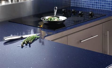 Blue Quartz Kitchen Countertops by Stellar Marine Blue Quartz Silestone Countertops Bay