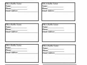 Raffle Tickets Template Word by Raffle Ticket Word Template