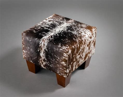 cow skin ottoman 69 best cowhide ottomans furniture images on