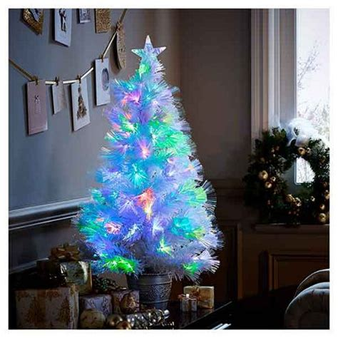 buy 3ft white fiber optic colour changing christmas tree